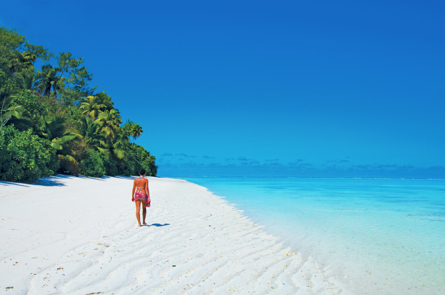 It really does look like paradise on Seychelles' beaches