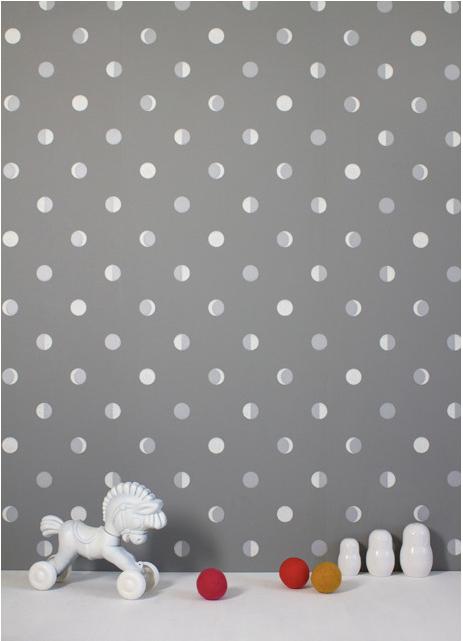 Moon Crescents non-woven wallpaper from luxury French brand Bartsch. www.bartsch-paris.com