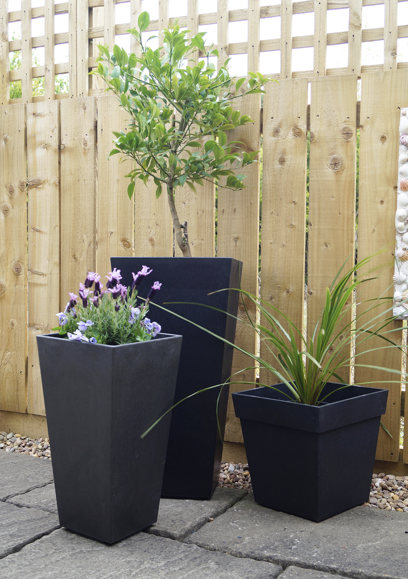 Recycled rubber tyres make great planters