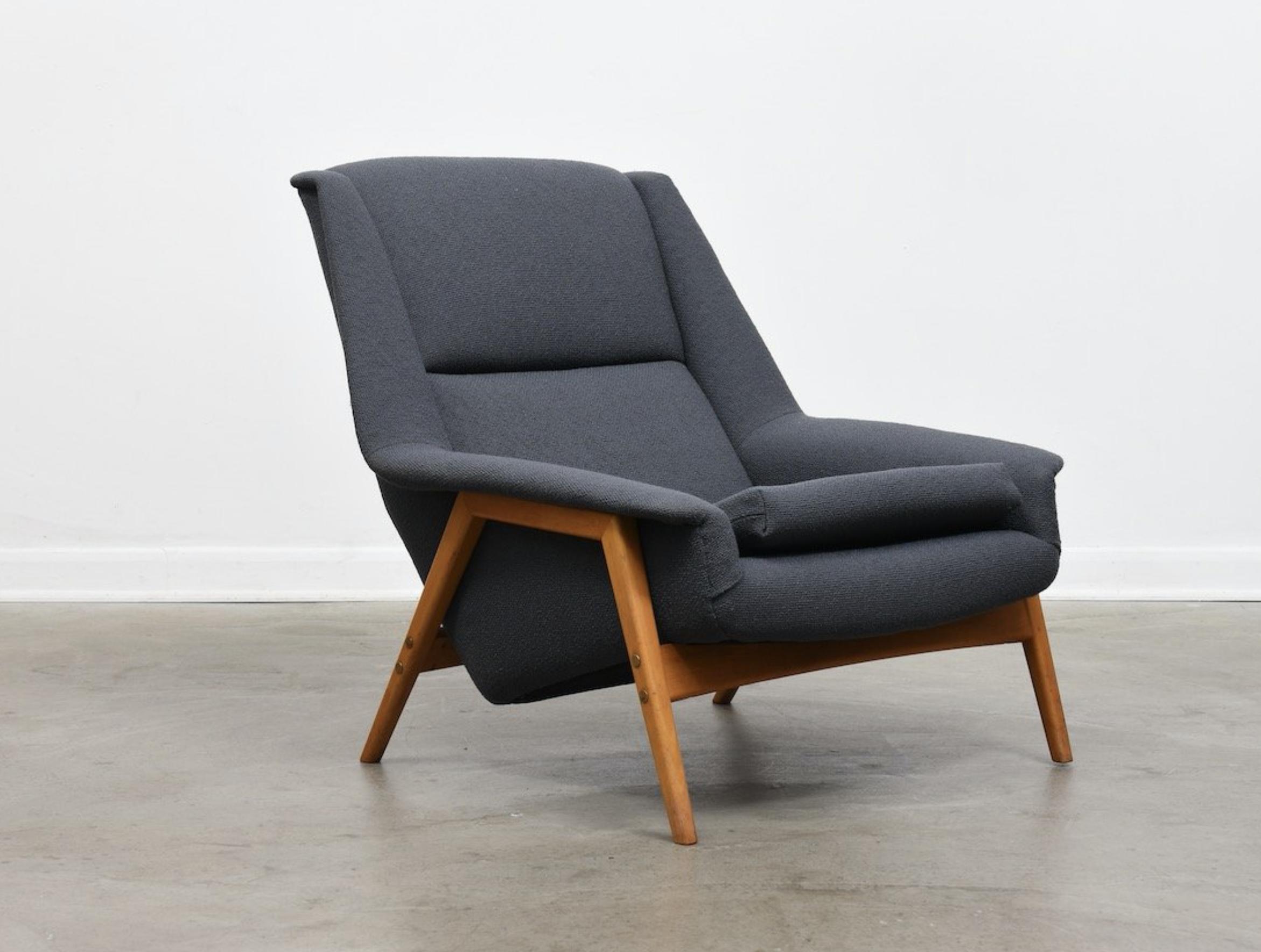 1960s Folke Ohlsson lounge chair for DUX, wool upholstery, fully restored, POA at Chase & Sorensen