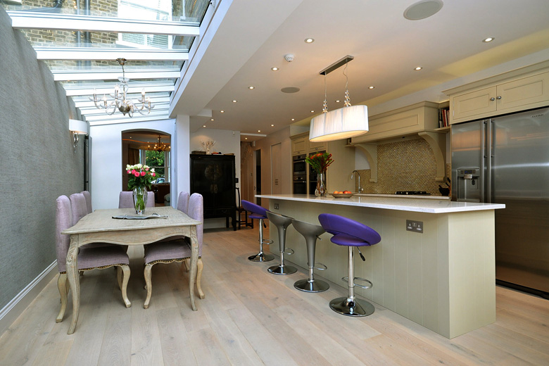 Flooring experts Ecora chose wide boards from its Oak Tennyson range for this terraced house