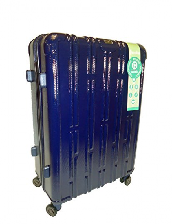 Aerolite 8 Go Green luggage is made from recycled PET plastic. Find it on Amazon and Ebay.