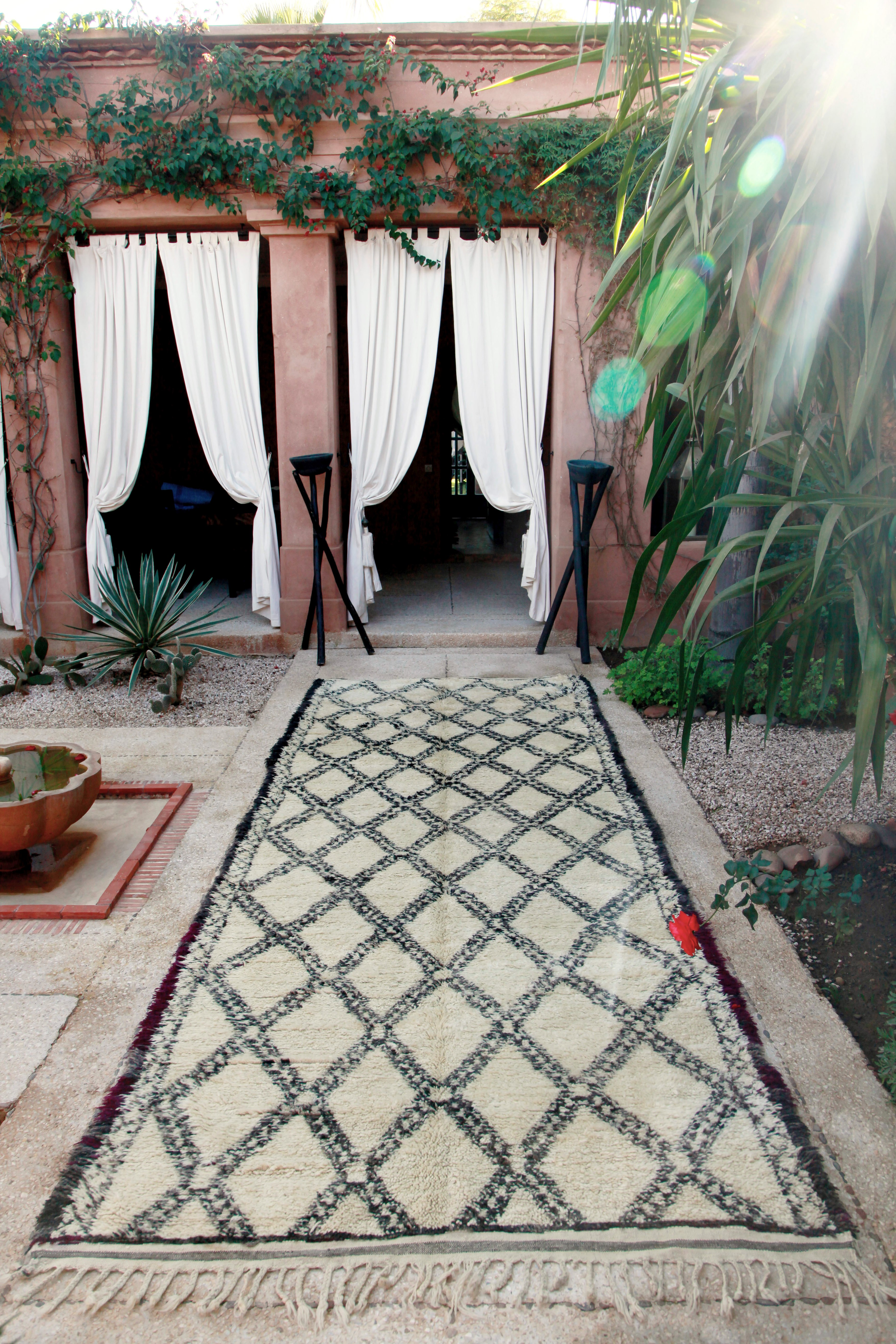 Beni Ouarain wool rugs from Morocco are hugely popular. Prices from £2500
