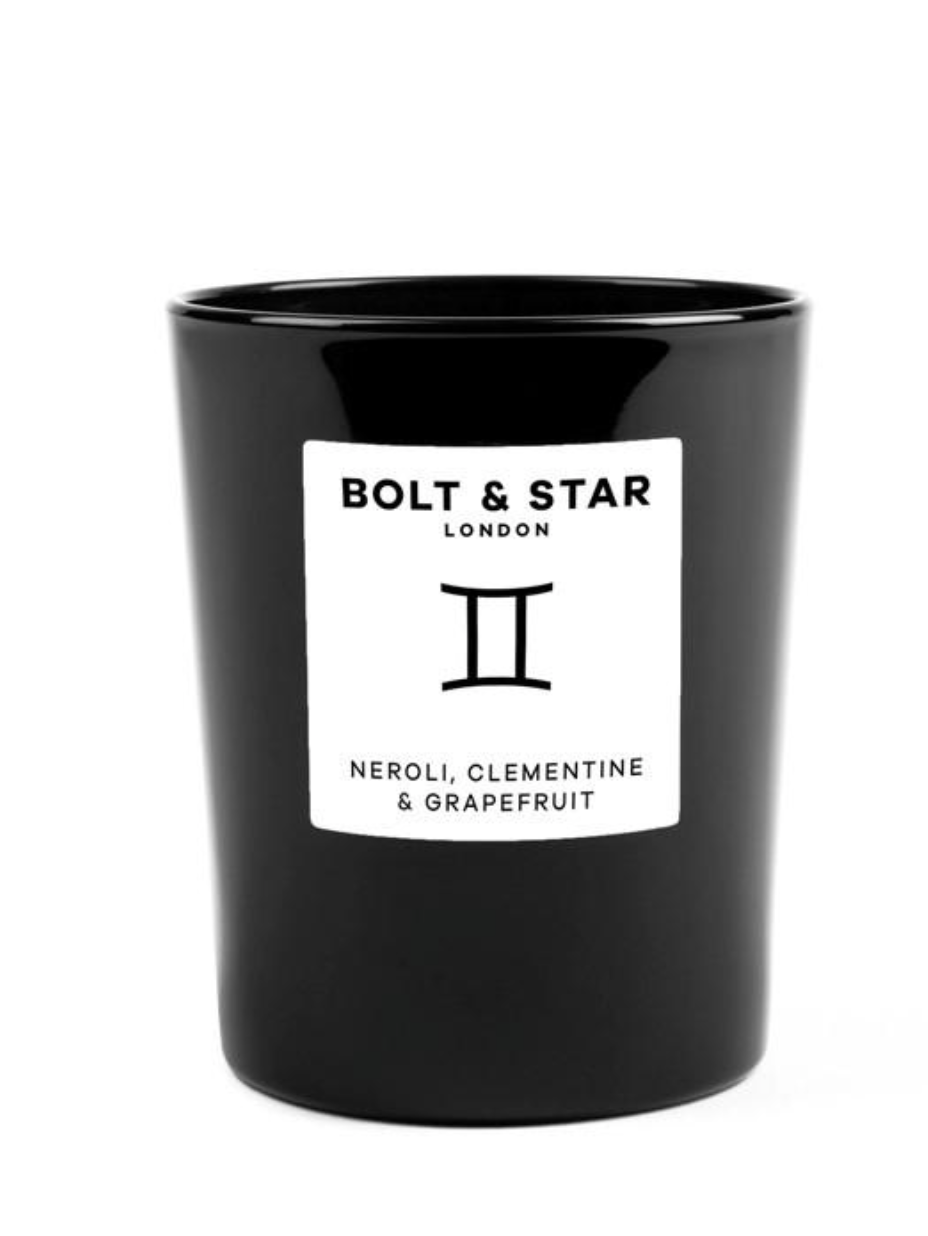 Hand made in London, Bolt & Star candles are made from soy wax