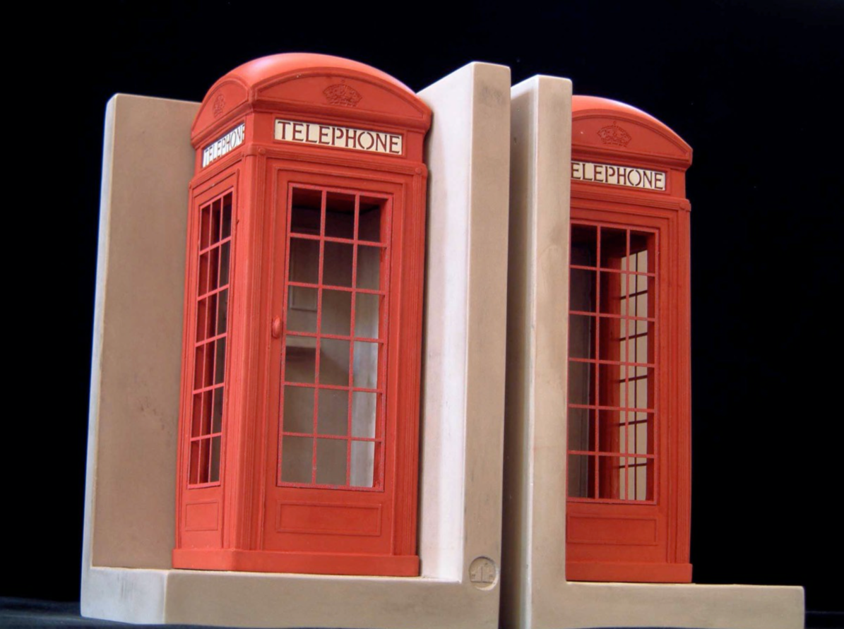 Phonebox bookends