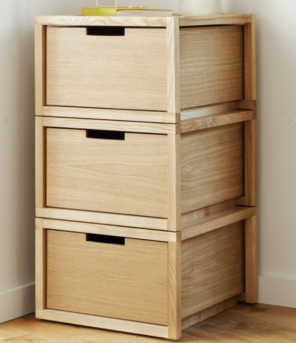 UK brand ByAlex offers Playwell wooden storage units which can be configured in various ways.