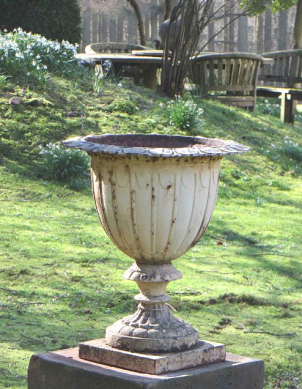 Late 19th century cast iron garden urn, H53xW44.5cms, £290,from Lichen. www.lichengardenantiques.com