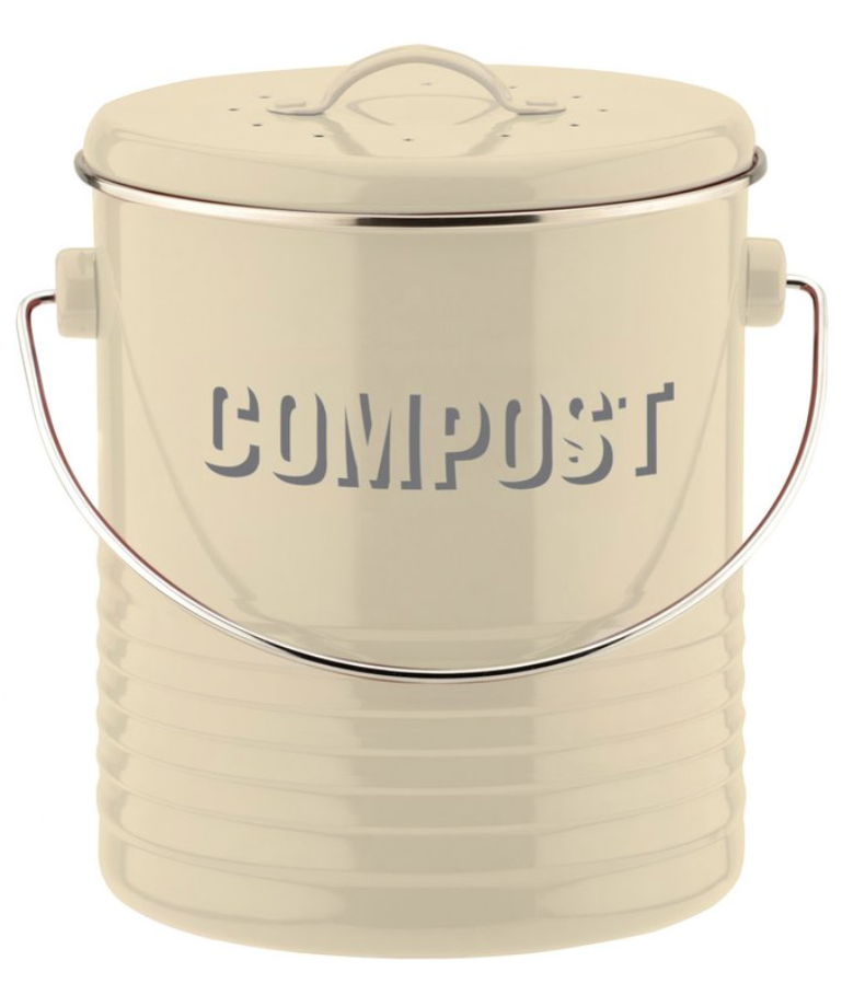 If you haven't already got one, buy a counter top food waste composting bin