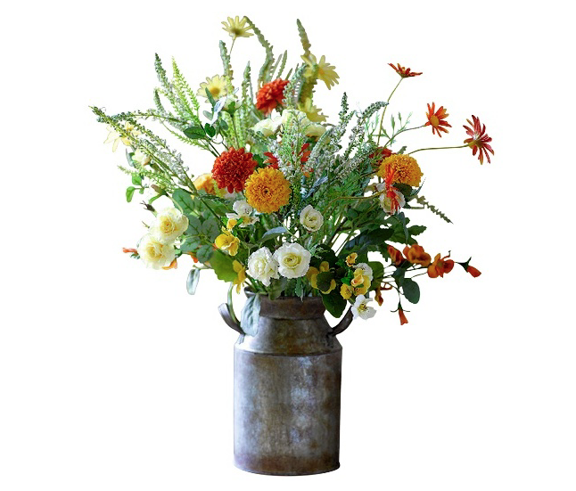 Faux flowers can be very realistic and they have the eco merit of longevity - though do dust them re