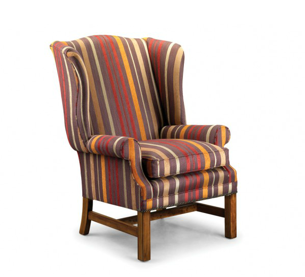 The beautifully made George high-backed wing chair by Whitehead Designs of Long Eaton. www.whitehead