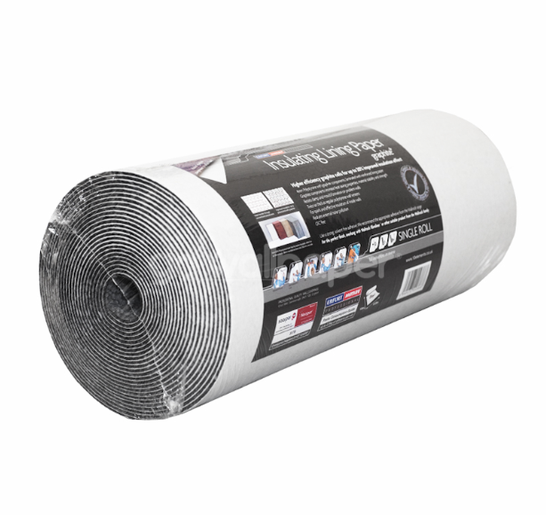 Graphite Insulating wallpaper by German company Saapor (£12.90 per roll), which is inexpensive