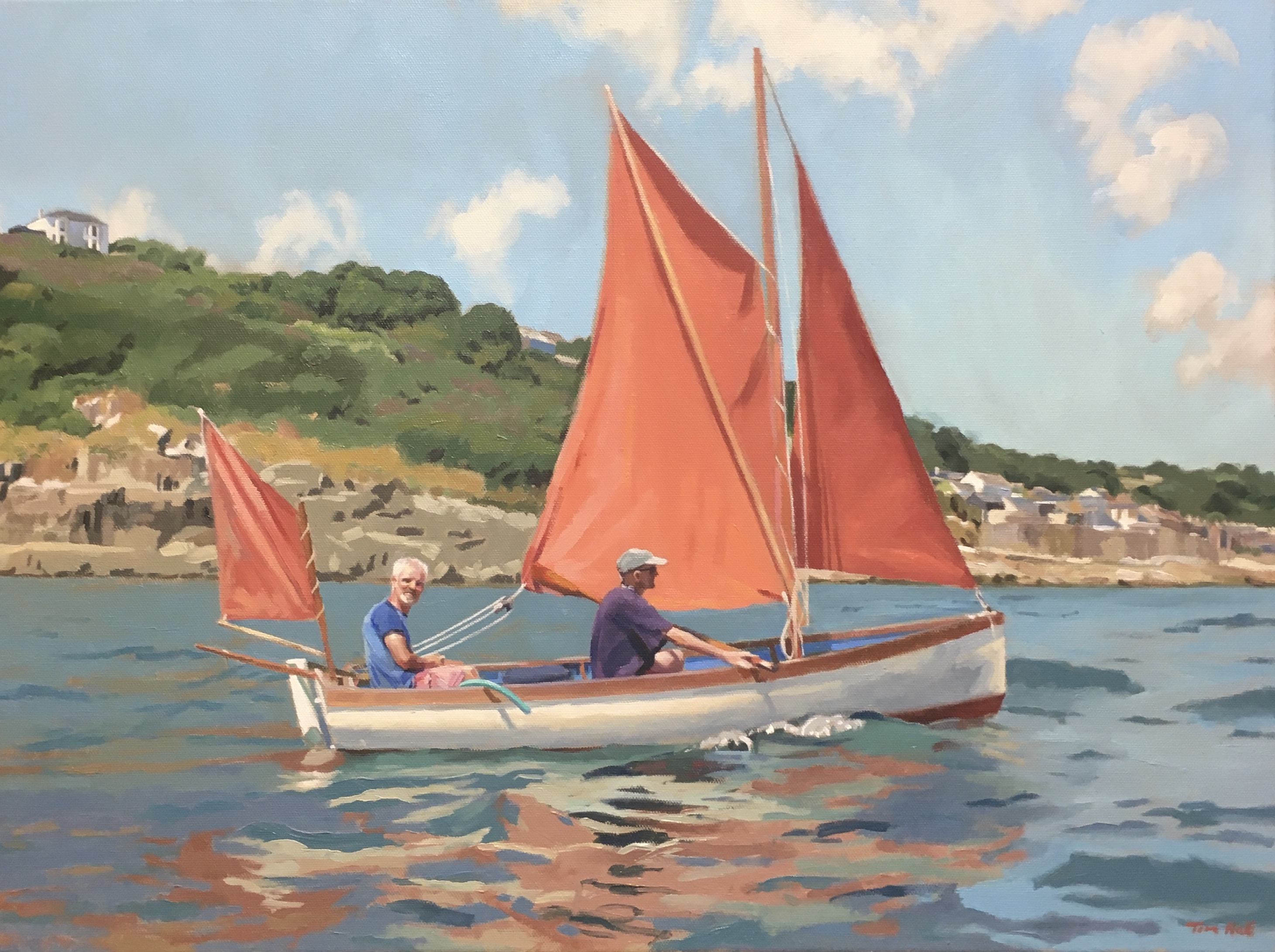 Tim Hall's Figures Red Sails Mousehole
