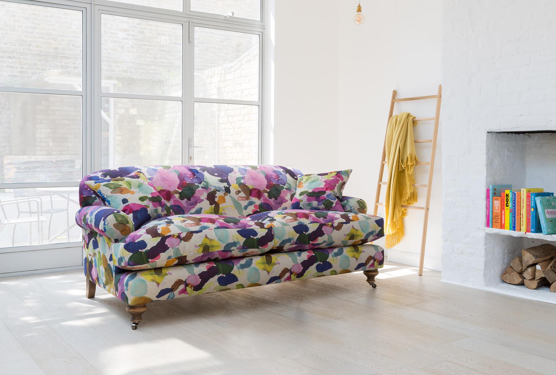 Hampton large sofa in bluebellgray's James fabric, from Sofas & Stuff