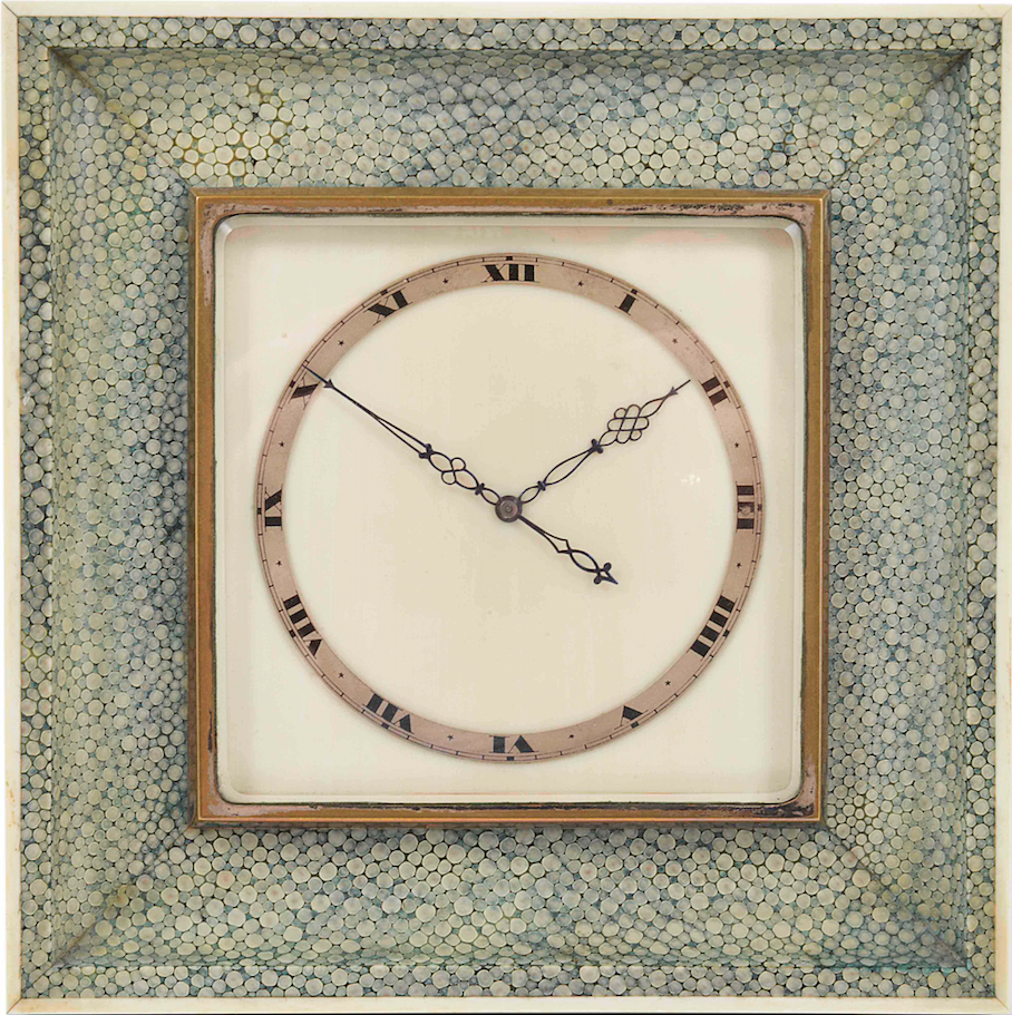 An ivory and shagreen Art Deco clock, set £100 to £200 at Catherine Southon's December auction