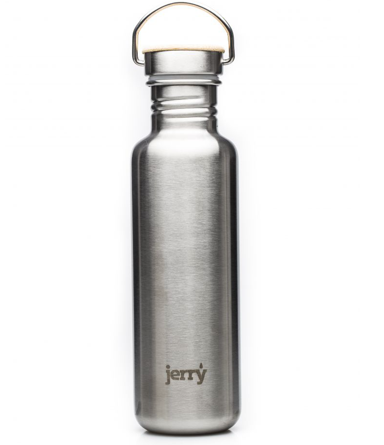 Jerry stainless steel water bottle - profits go to sanitation projects in India and Africa. £22.99