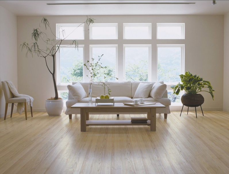 FSC engineered ash white floor from Junckers