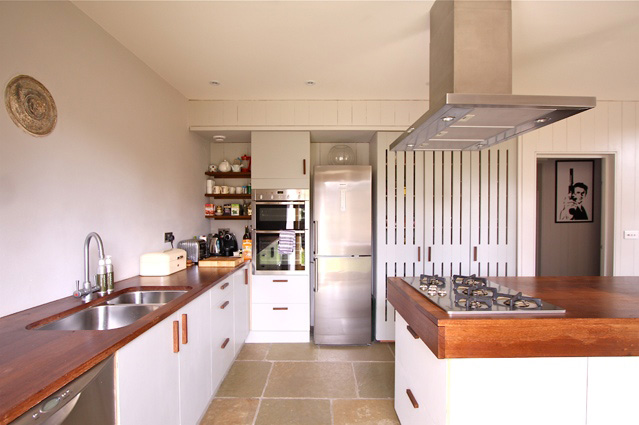 Barn project kitchen. Luxton doesn't believe in spending tens of thousands of fancy kitchens
