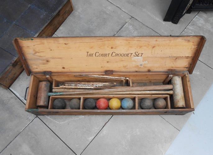 Vintage croquet set, £275, from Masco. www.mascosalvage.co.uk