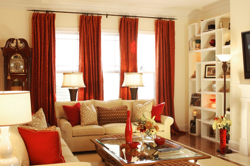 Heavy lined and interlined curtains are good for keeping the heat in