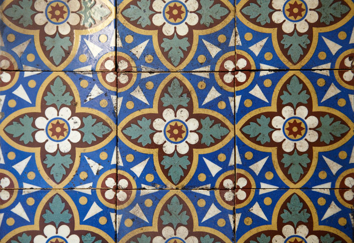 Encaustic tiles from The Vintage Floor Tile Company are perfect for Victorian houses