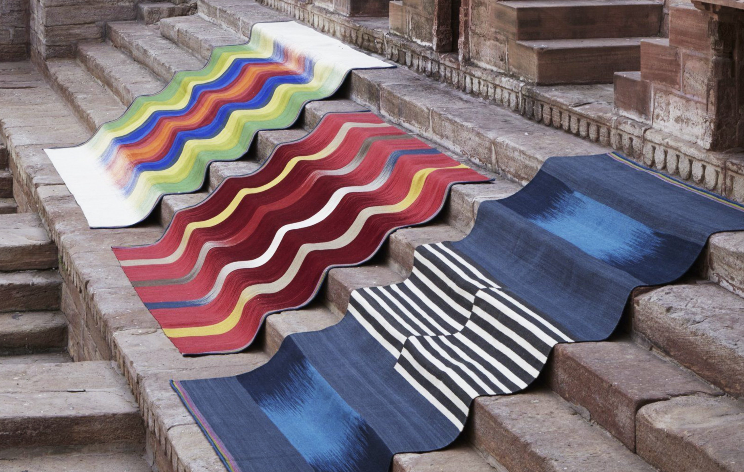 Indiam gleams by Ptolemy Mann for St Albans-based www.rug-maker.com