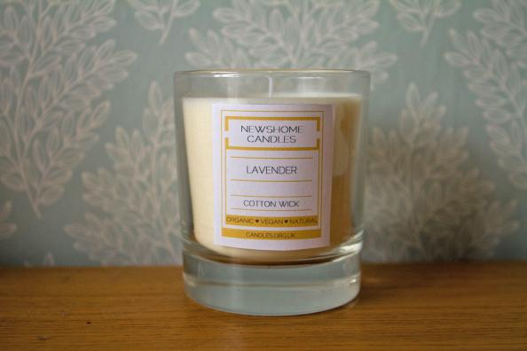Soywax scented candle, made in Yorkshire using essential oils, from £15.99 at Newshome Candles