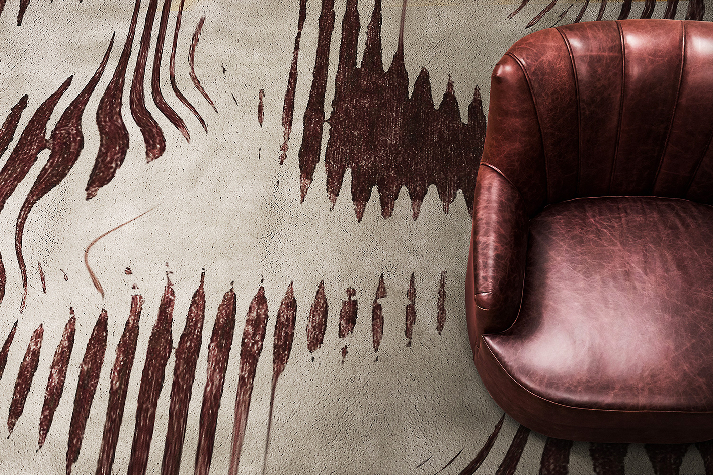 Kotta rug from Portugal's Rug'Society is hand knotted from wool and silk