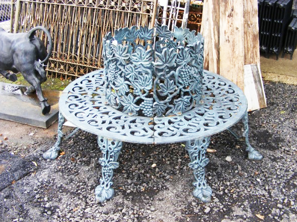 Cast iron tree seat available at Wells Reclamation. Max tree diameter 26 inches. £595.