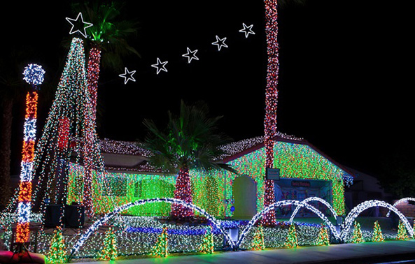 If you want to illuminate not only your tree but your house and front garden, do choose LED lights.