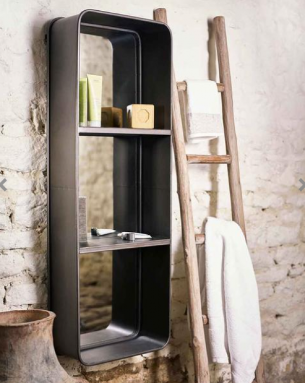 Loft mirror with shelving from Mirror Deco is a very useful piece.