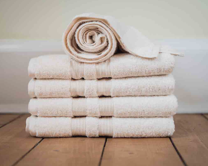 Organic cotton towels from Glasgow's fou furnishings are superb quality. Bath towel £13.99.