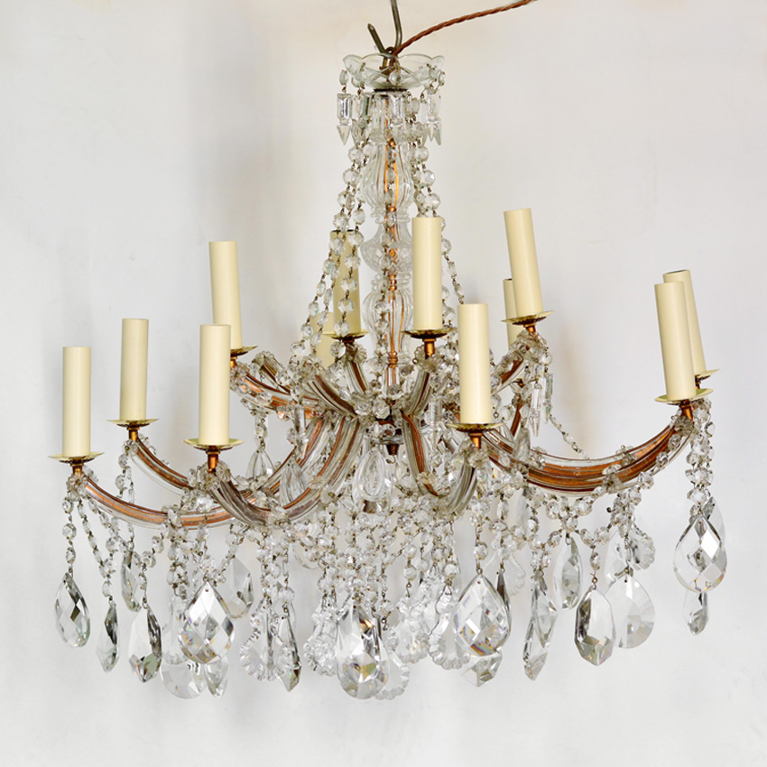 Lassco chandelier - reclaimed light is rewired and PAT tested