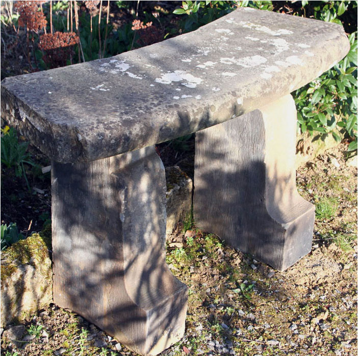 Small stone garden bench, £475, at Masco in Stroud. www.mascosalvage.com