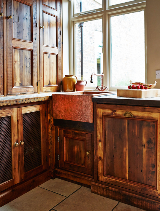 Reclaimed timber was used in this kitchen by The Main Company