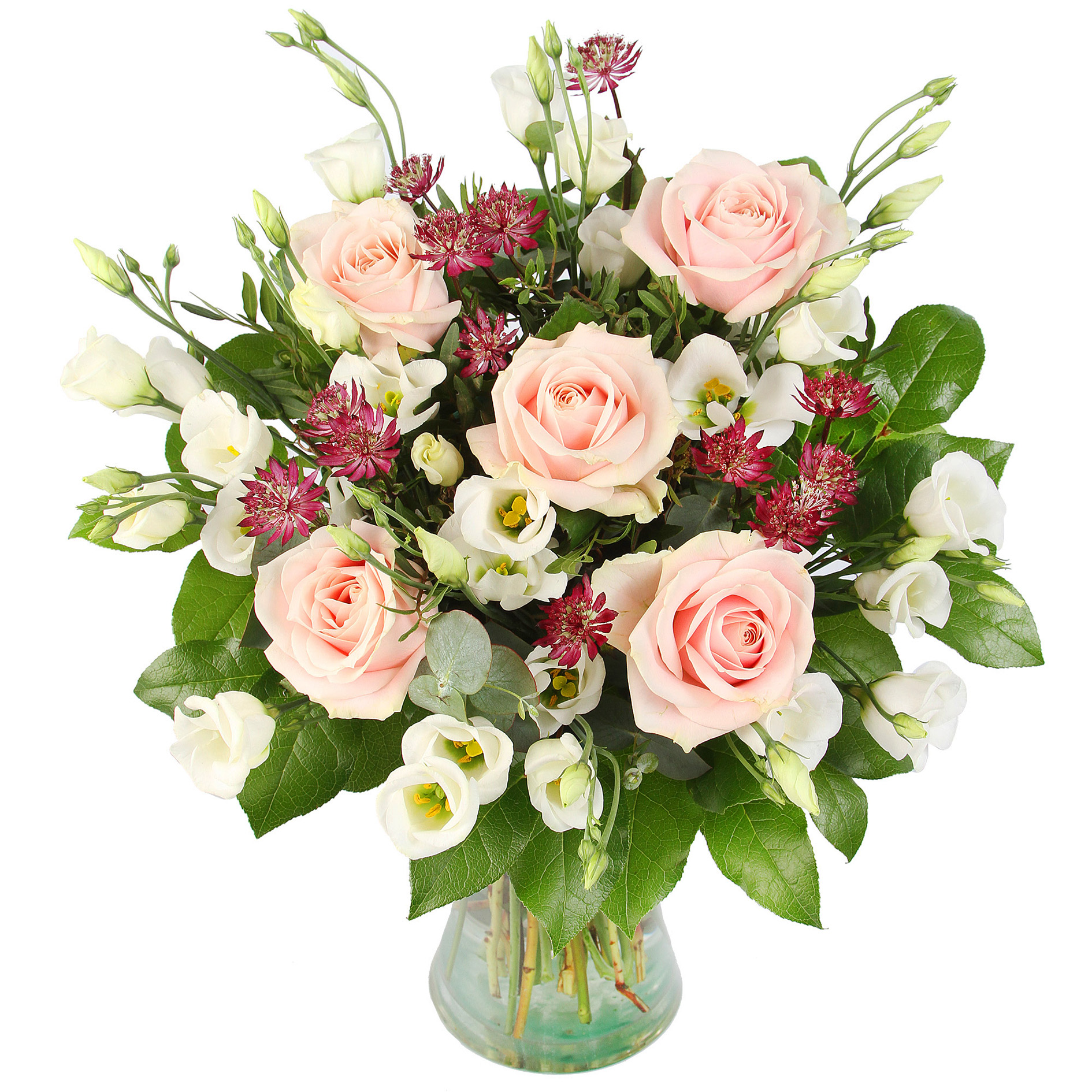 Bella bouquet from Serenata's Fair Trade flowers range. Flowers are imported from the EU, Africa and