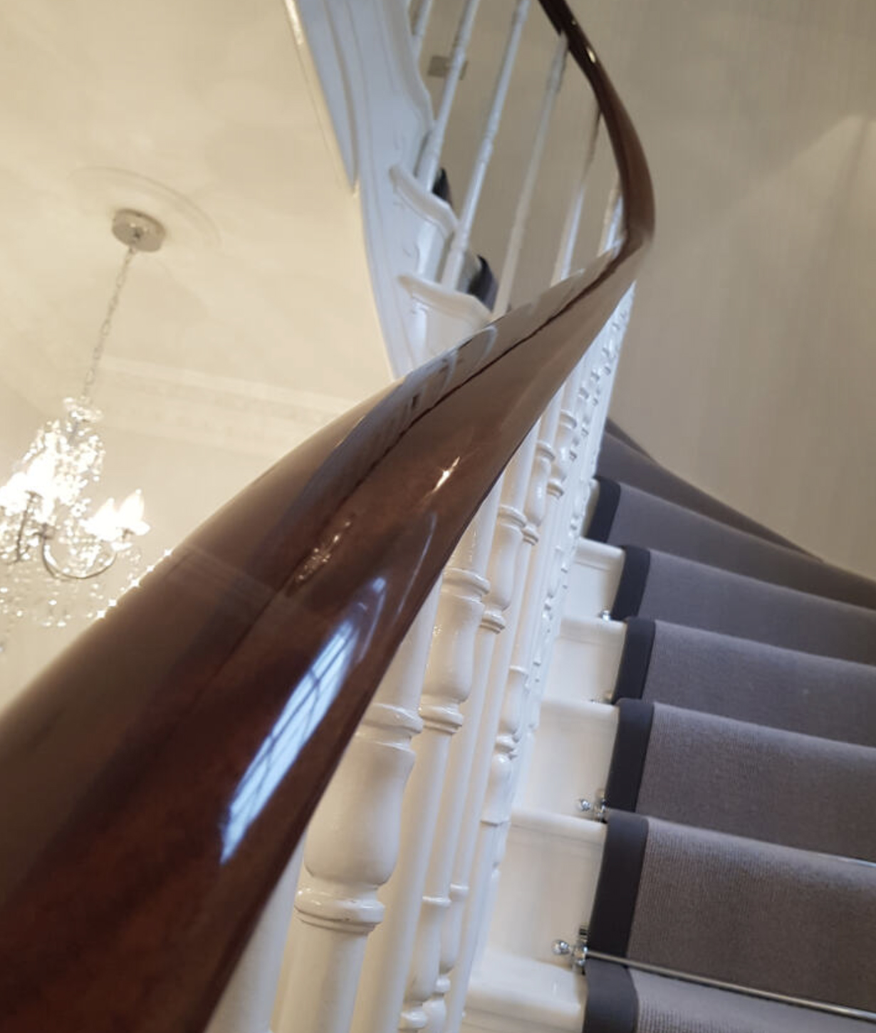 hand rails come to life again after French polishing
