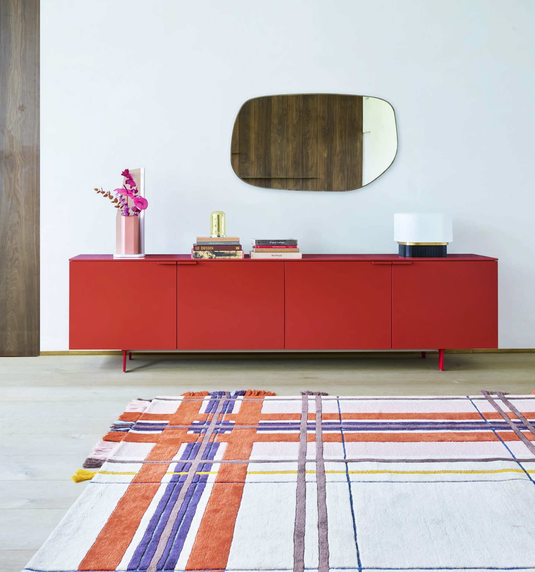 Ligne Roset 4-door Everywhere Sideboard, £2500, wood and ceramic top