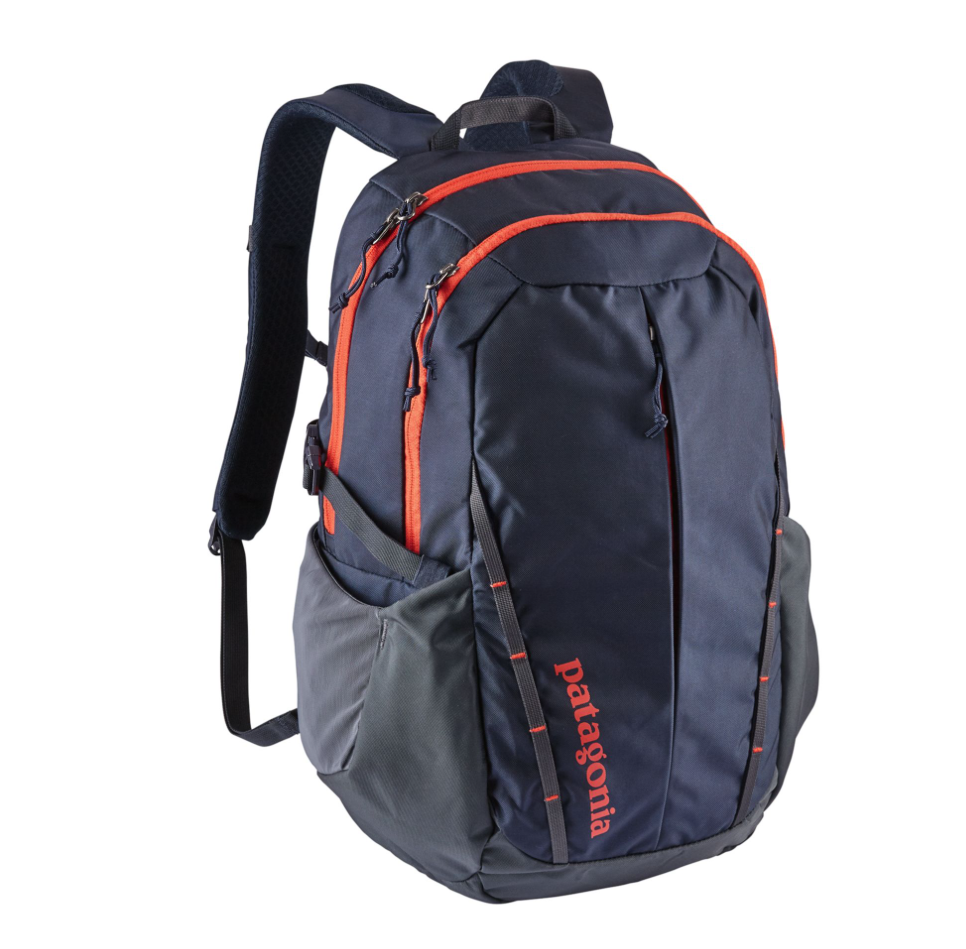 Patagonia's 20 L Refugio backpack is made from 50 per cent recycled nylon