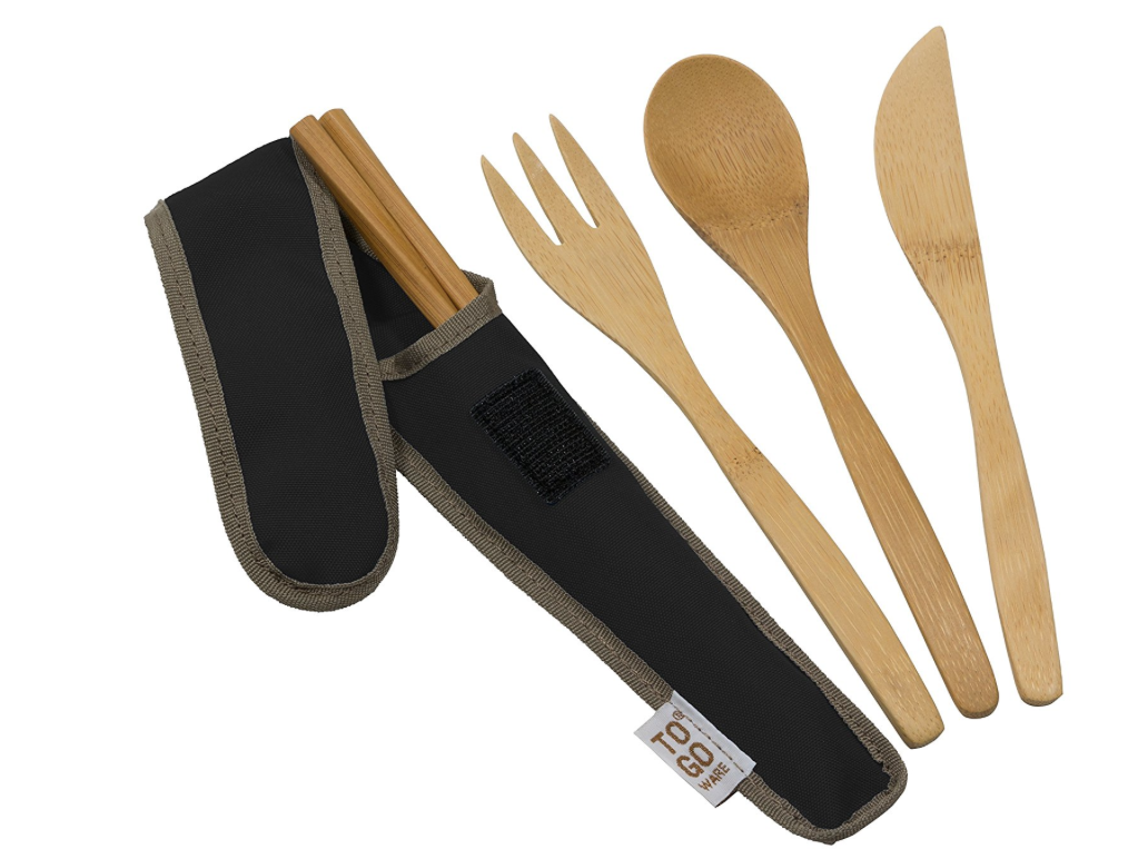To Go Ware reusable bamboo cutlery and chop sticks is great - get out of the habit of using plastic