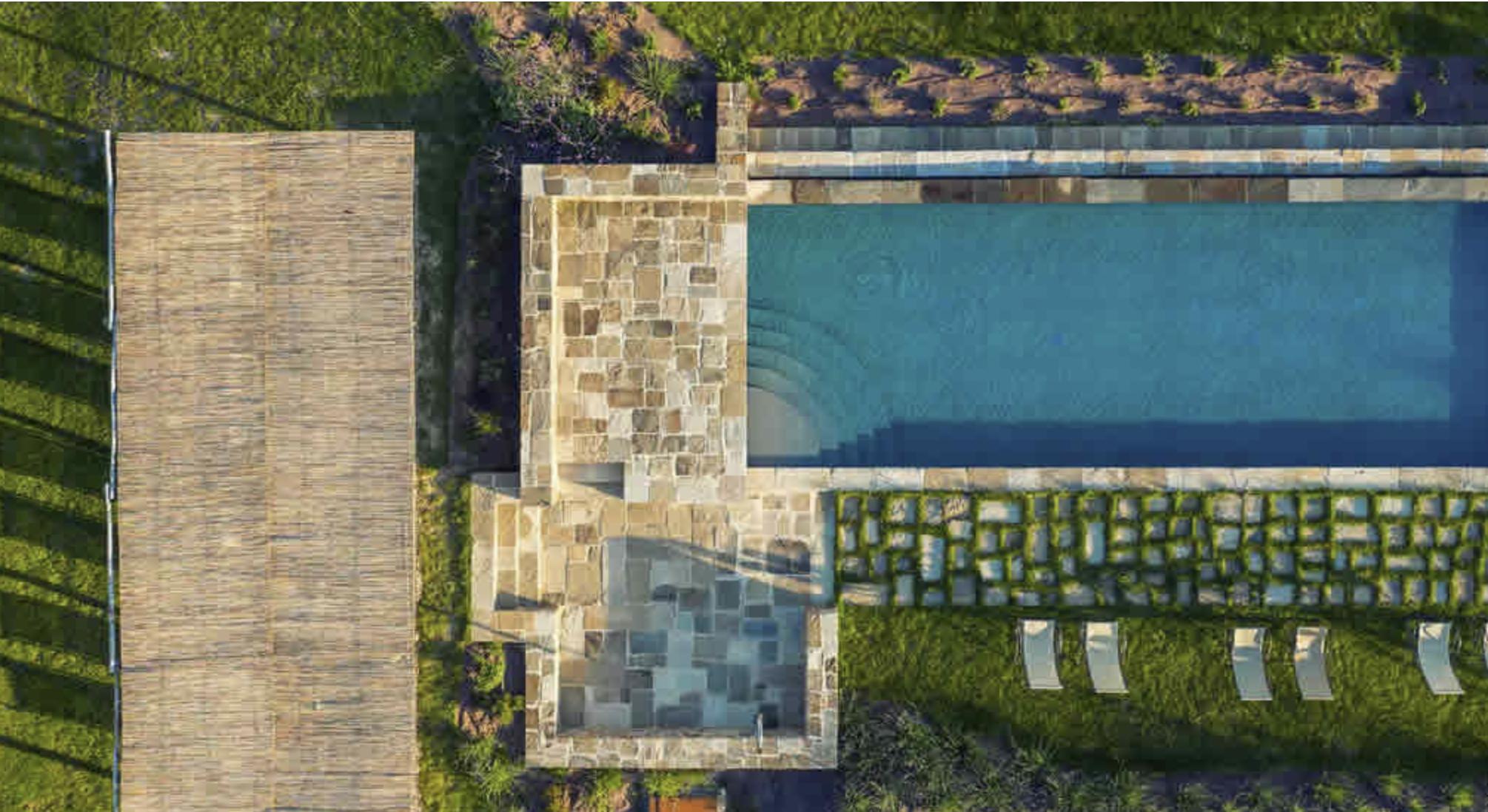 Enjoy the saltwater infinity pool