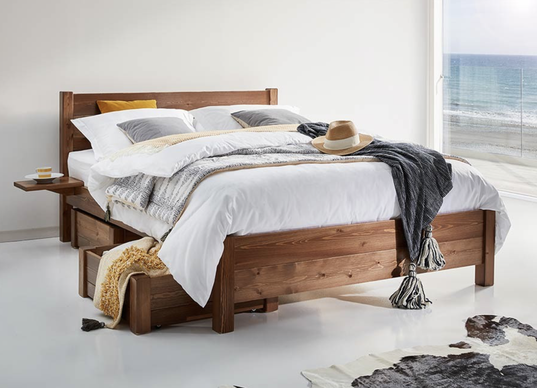 simple wood bed frame, Oxford bed from Get Laid Beds, £654 for kingsize