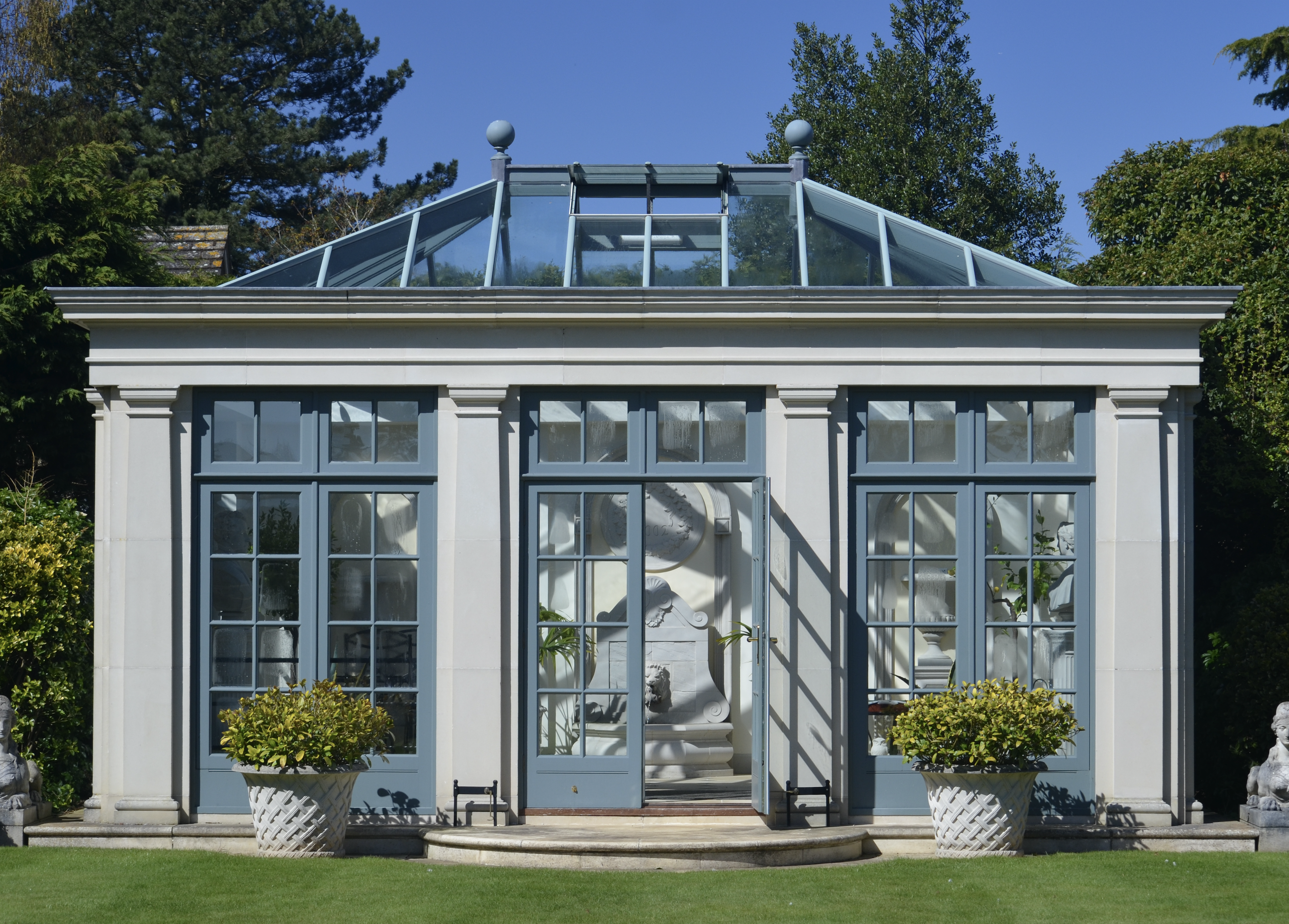 A rather grand orangery built by Haddenstone - an option if you have a v large garden!