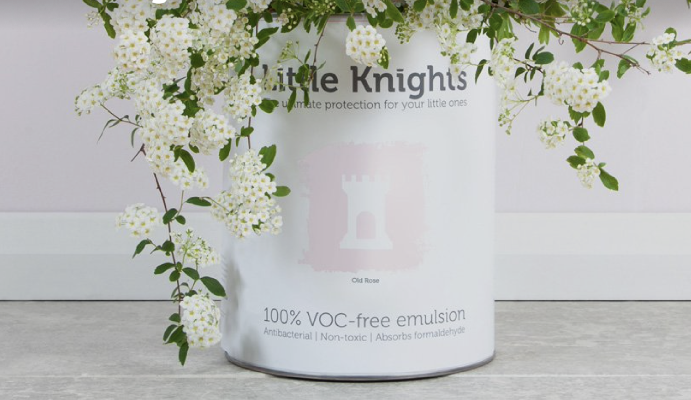 UK brand Little Knights makes paints with no VOCs or petrochemicals