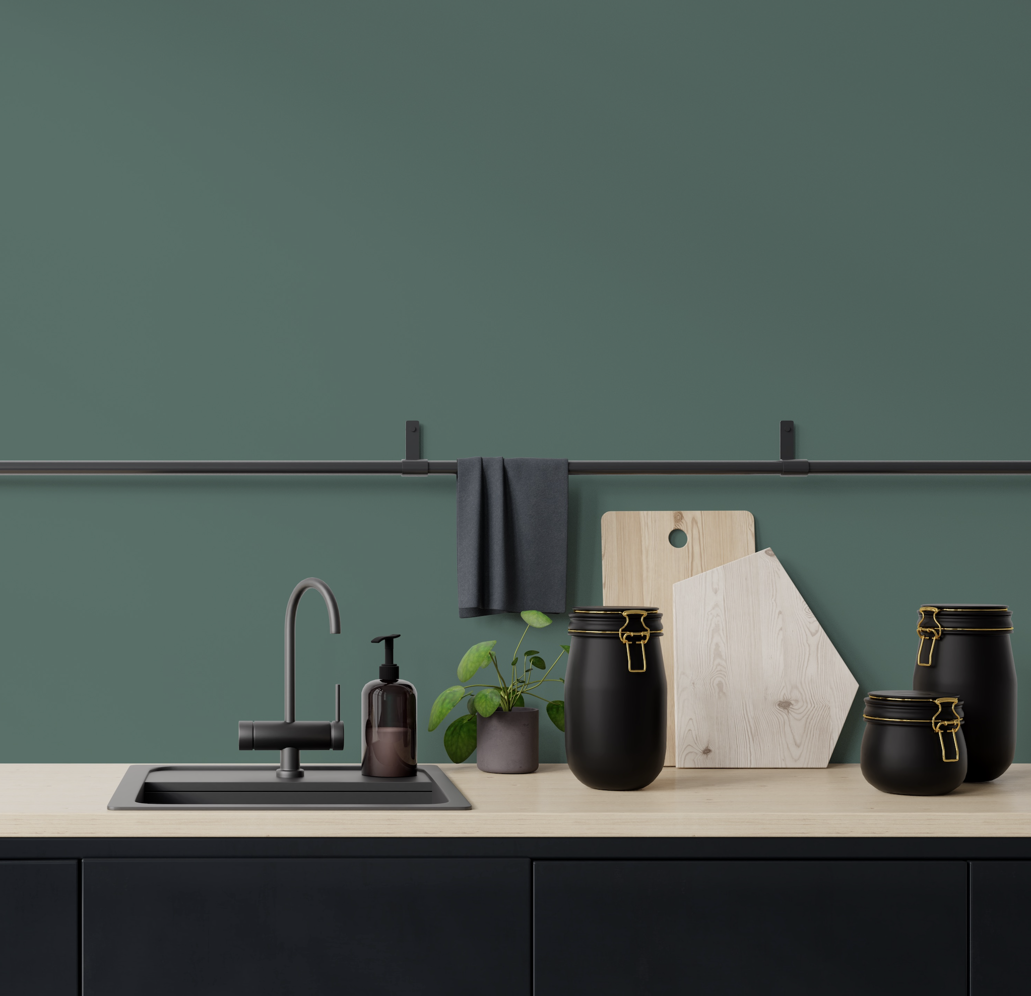 Don't be afraid of using dark colours. Pic: Absolu paint