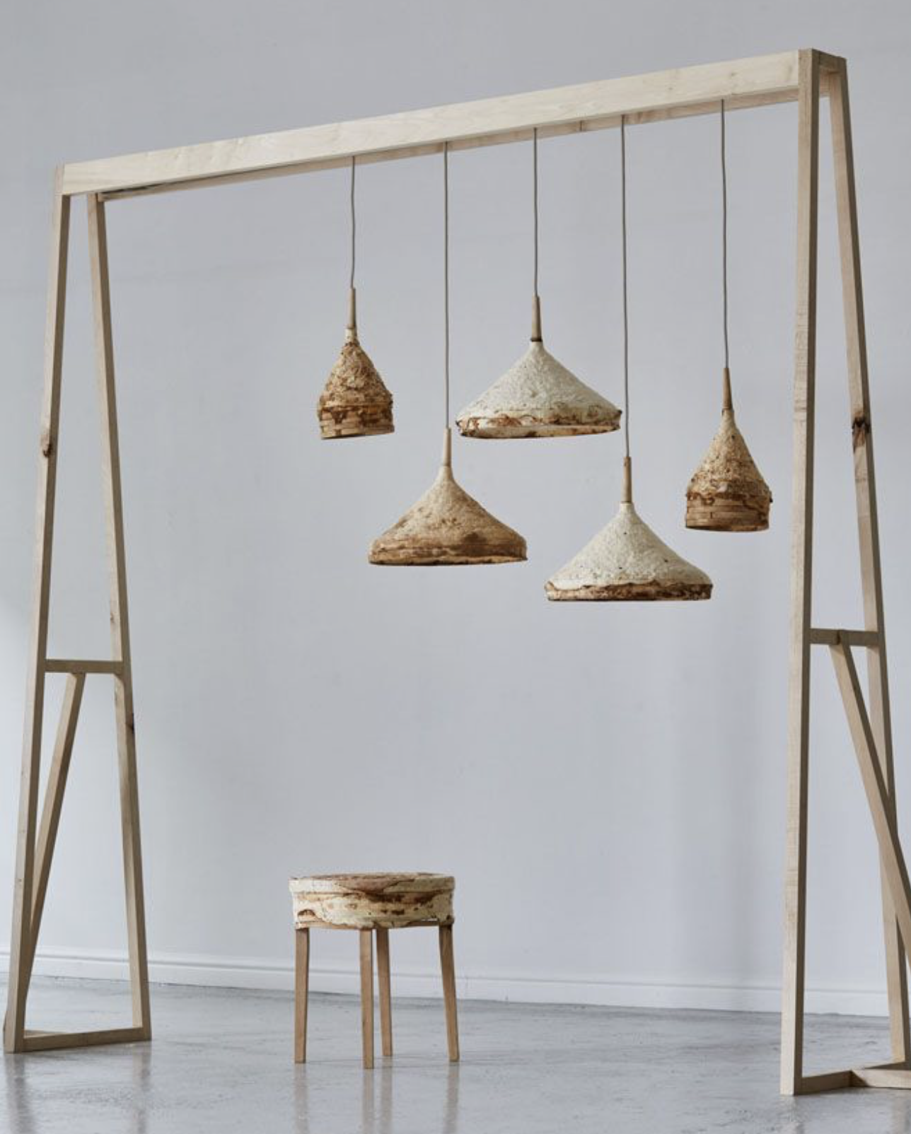 Mushroom mycelium is becoming a hyper eco material for weaving and furniture