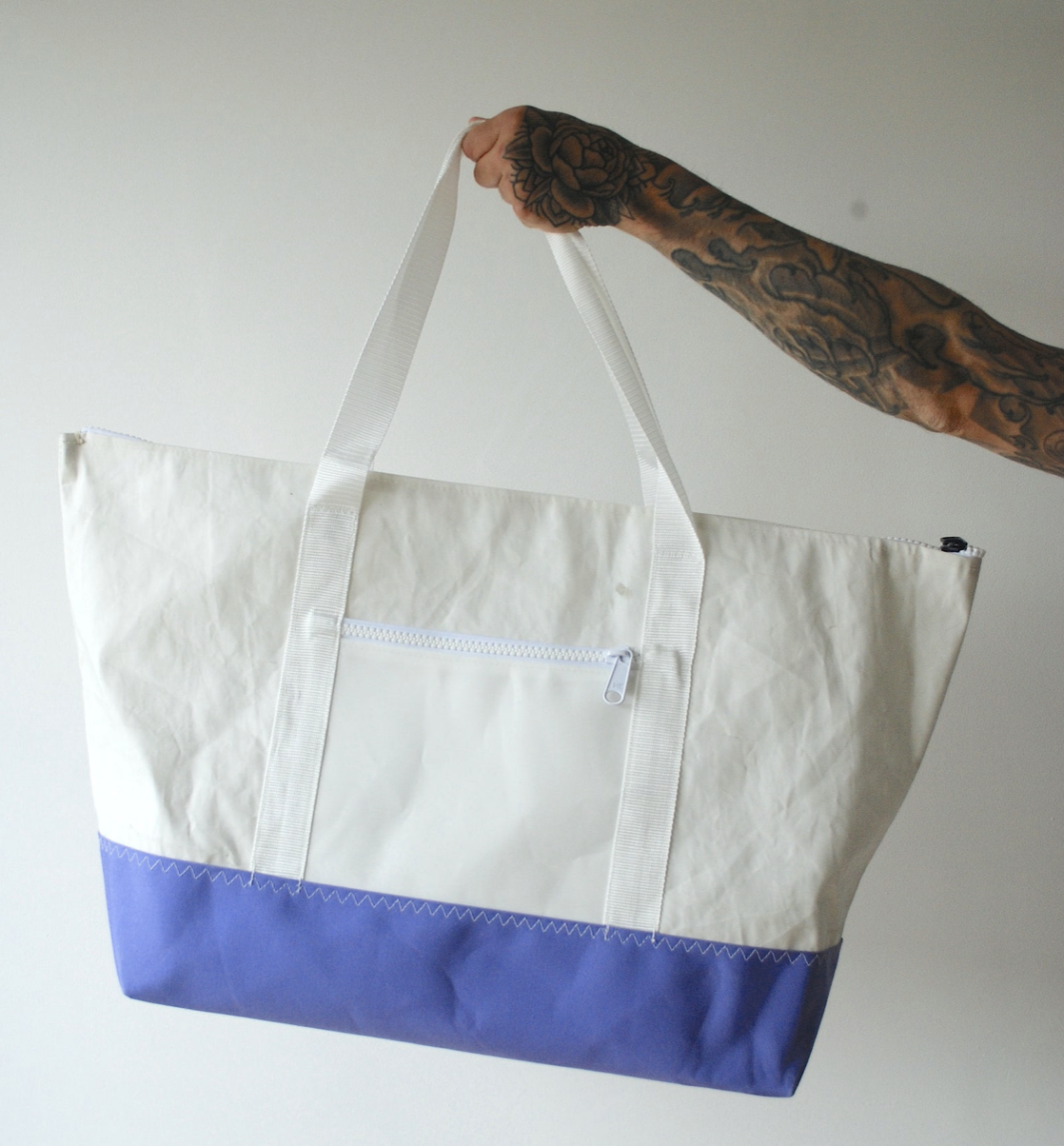Recycled sail tote bag from Pablo the Sailmaker, on Etsy, £50 https://www.etsy.com/uk/listing/742260
