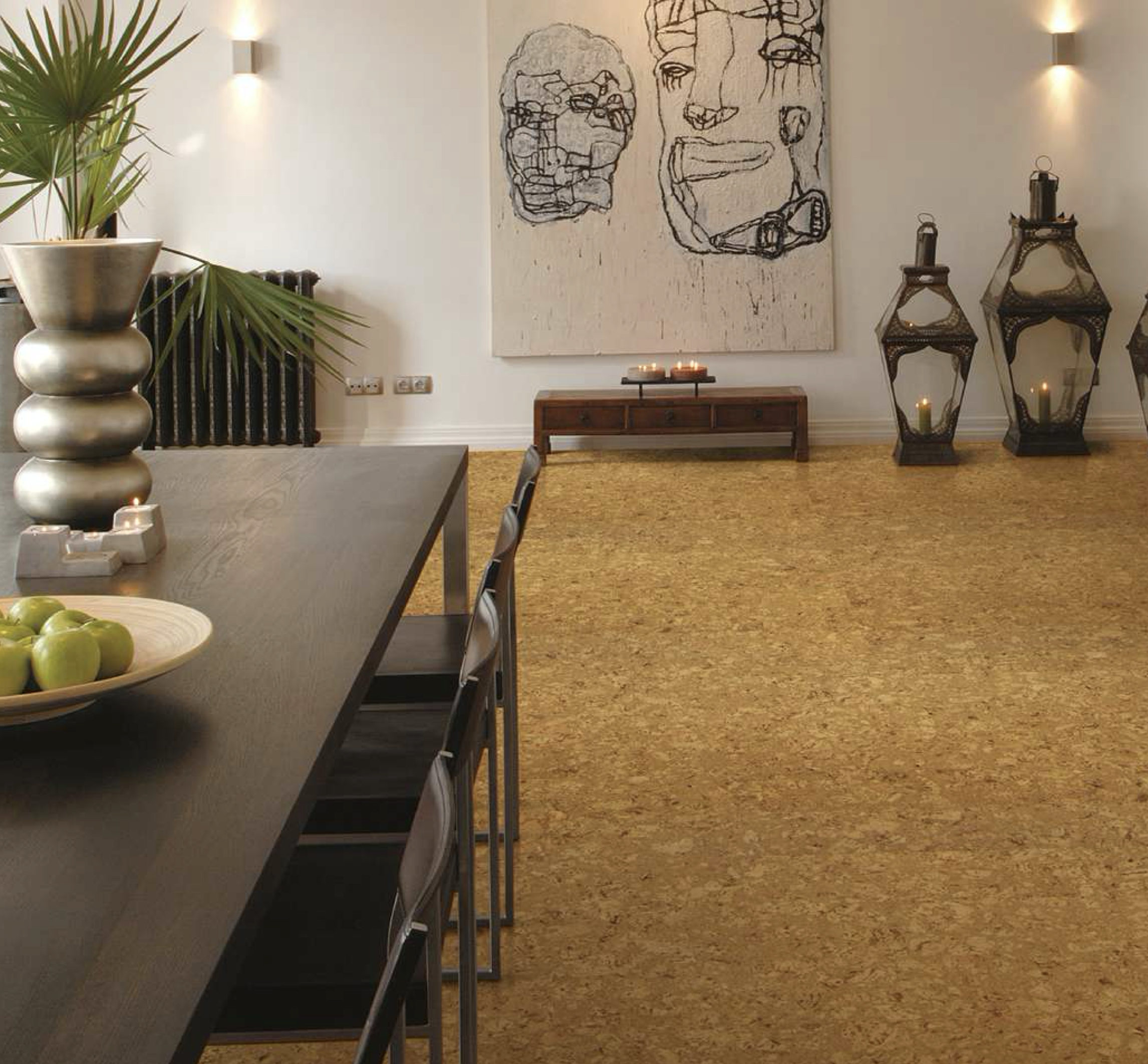 Cork flooring from Wicanders can suit modern interiors