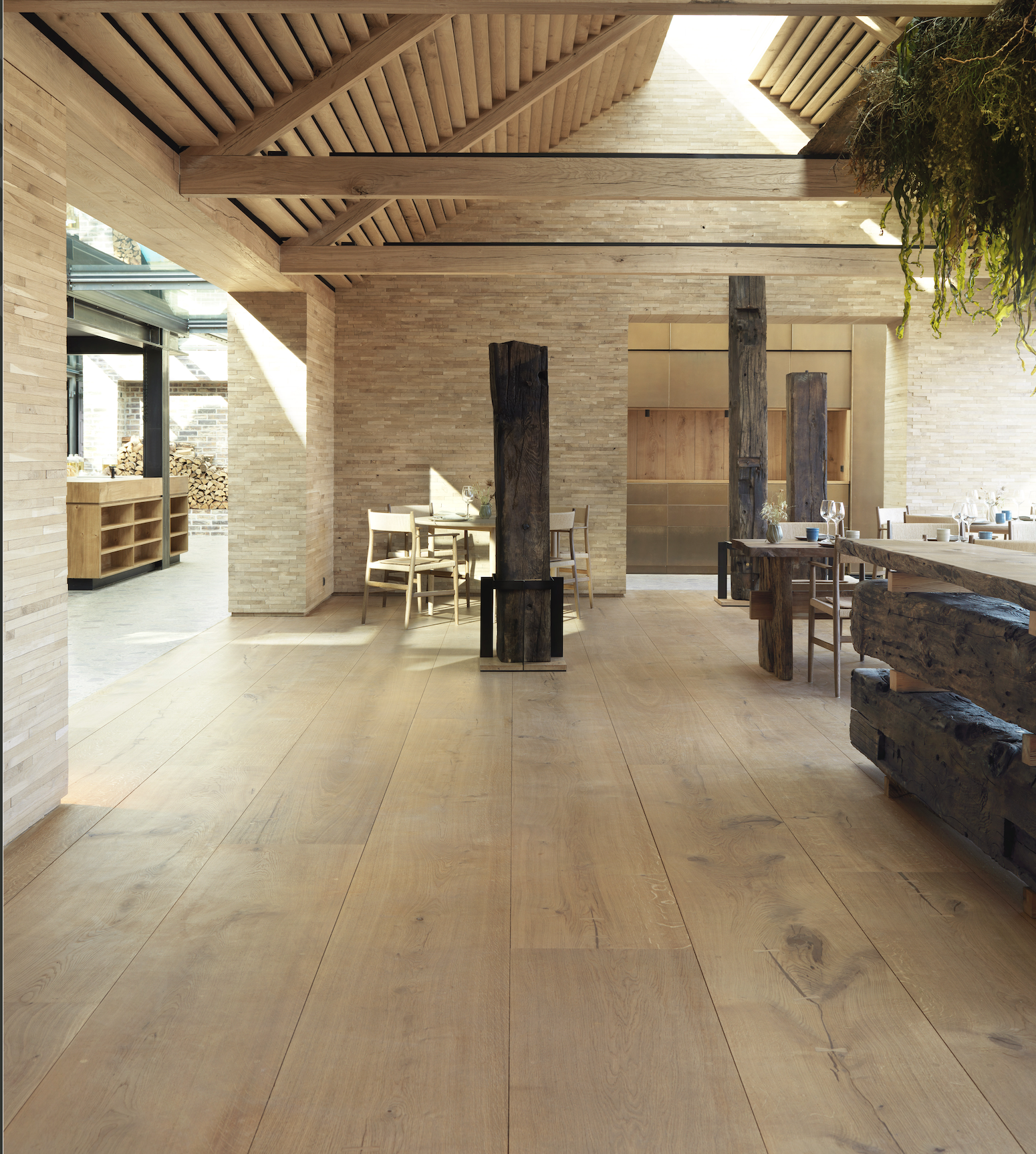 Danish company Dinesen uses Douglas fir and oak from Germany and France