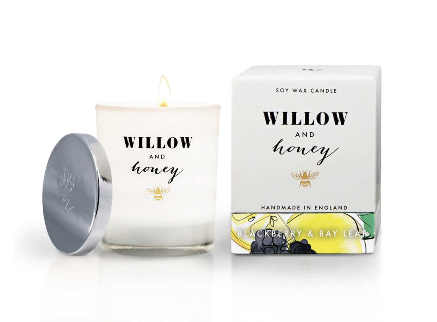 Willow & Honey scented candles, soy wax, £29.95