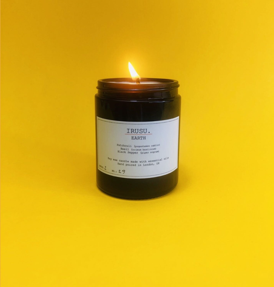 North London based Irusu candles are super eco and vegan friendly